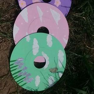 Custom painted vinyl disks